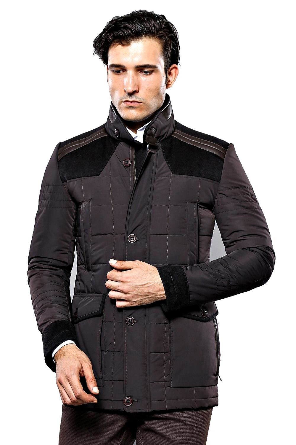 Brown Quilted Coat | Wessi