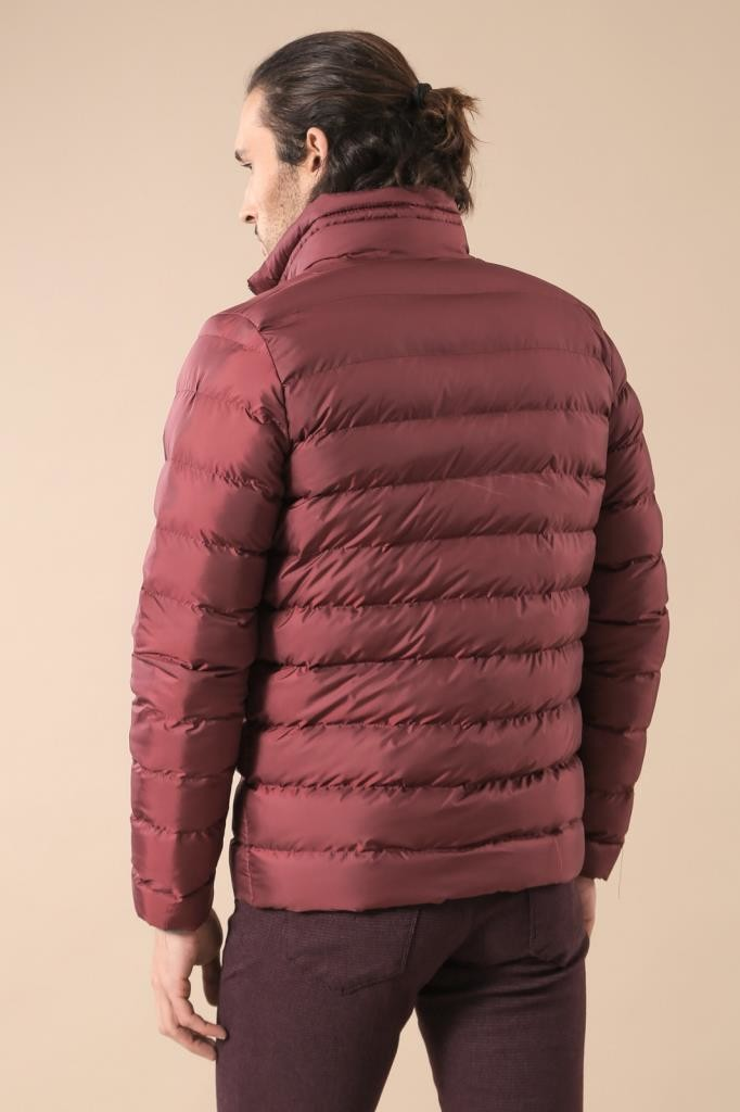 Burgundy Short Down Jacket | Wessi