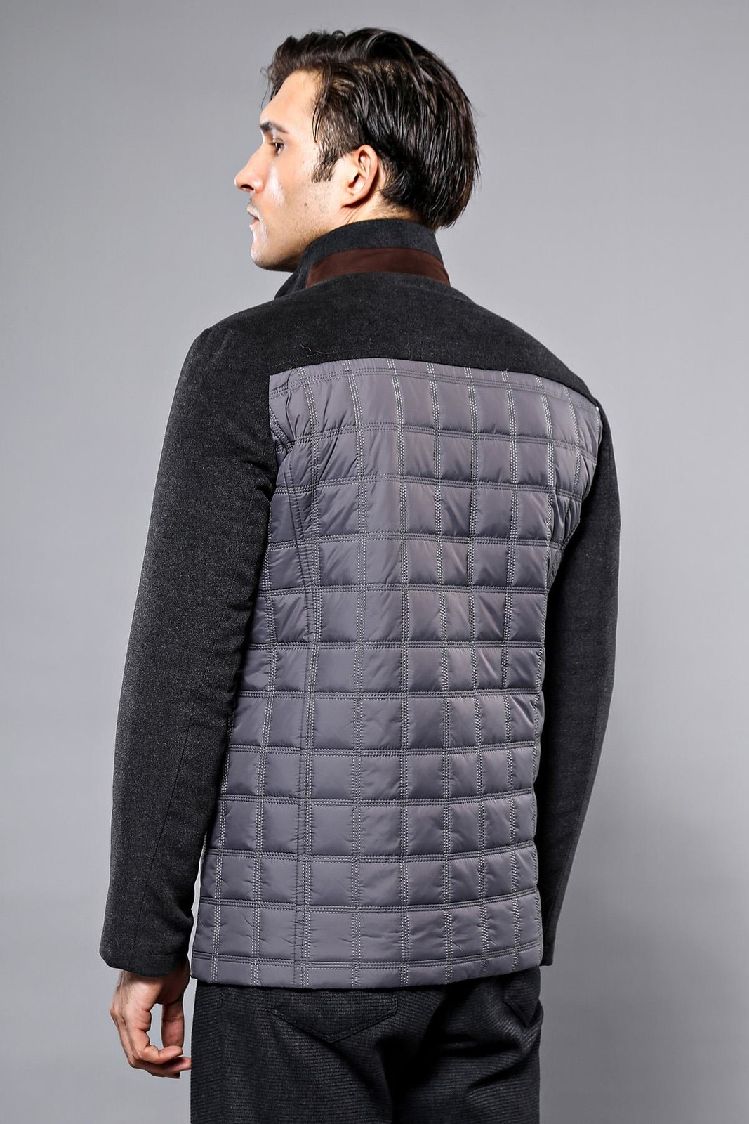 Cachet Grey Quilted Coat   Wessi