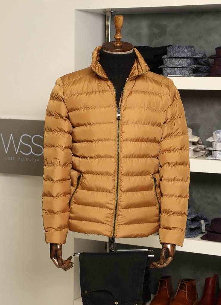 Camel Short Men Down Jacket | Wessi
