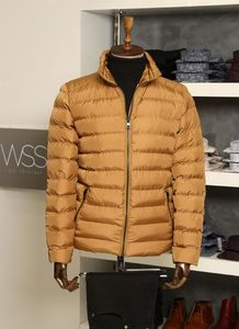 Camel Short Men Down Jacket | Wessi - Thumbnail