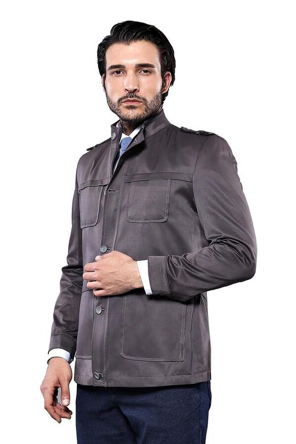 Grey Coat Jacket | Wessi