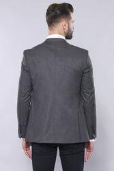 Grey Plain Blazer and Vest Set   Wessi - Thumbnail