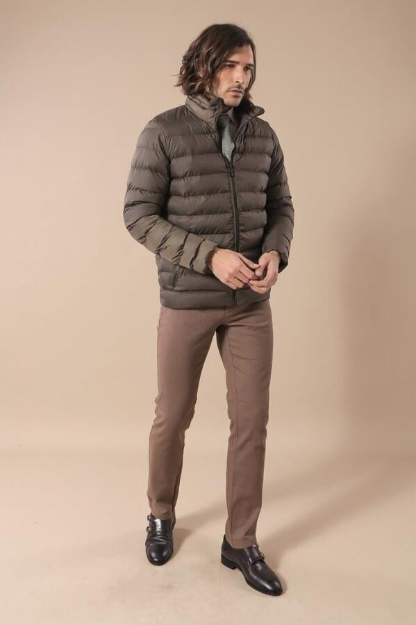 Khaki Short Down Jacket | Wessi