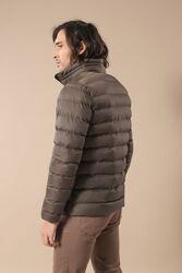 Khaki Short Down Jacket | Wessi - Thumbnail