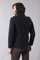 Modeled Slim Fit Black Coat - Thumbnail