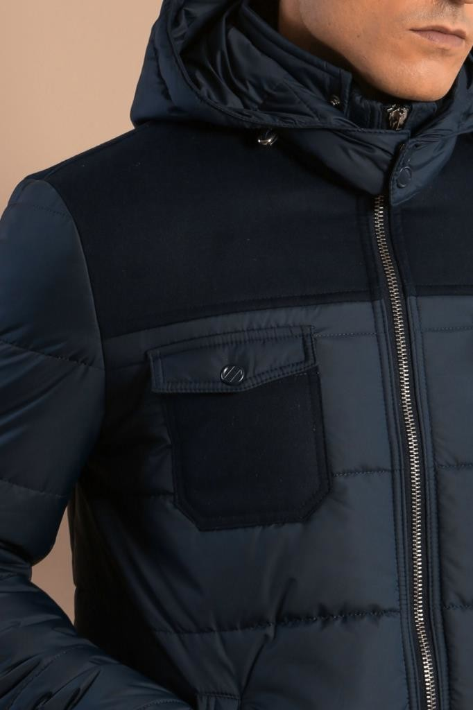 Navy Blue Down Jacket