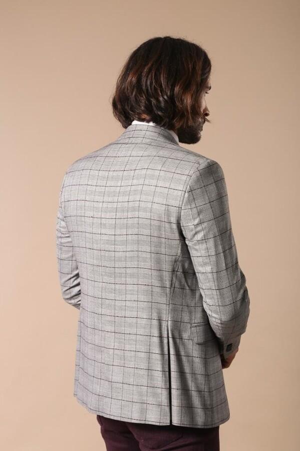 Plaid Black Blazer with Grey Vest