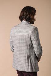 Plaid Black Blazer with Grey Vest - Thumbnail