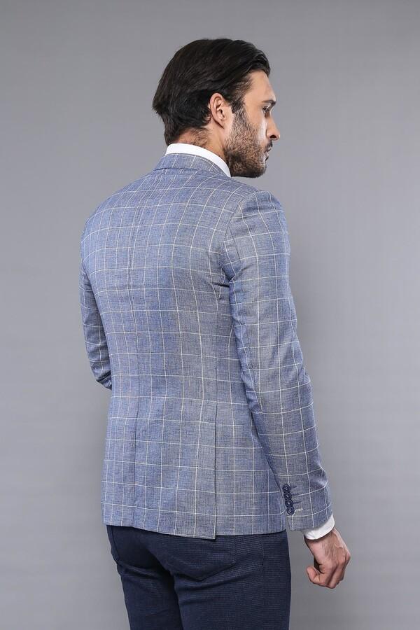 Plaid Cotton Blue Sport Coat | Wessi