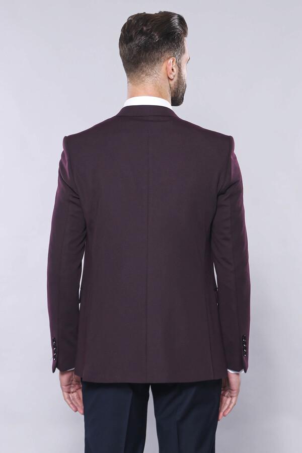 Plain Burgundy Vest Blazer Set   Wessi