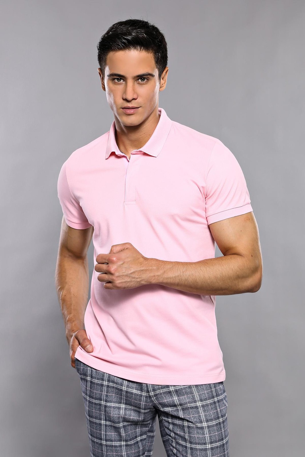 Plain Pink Polo T-Shirt | Wessi