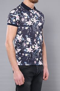 Polo Floral Patterned Men's T-Shirt | Wessi - Thumbnail
