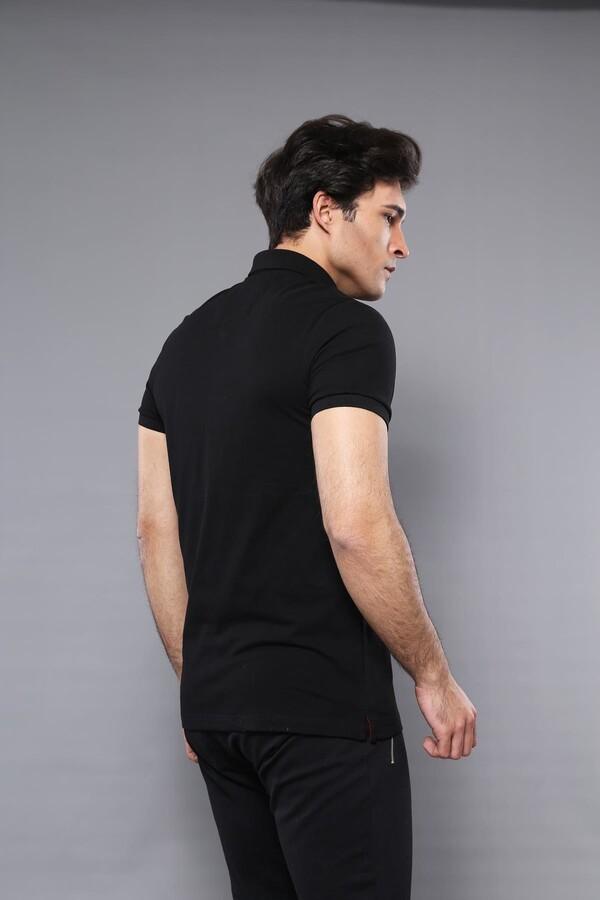 Polo Plain Black T-Shirt | Wessi