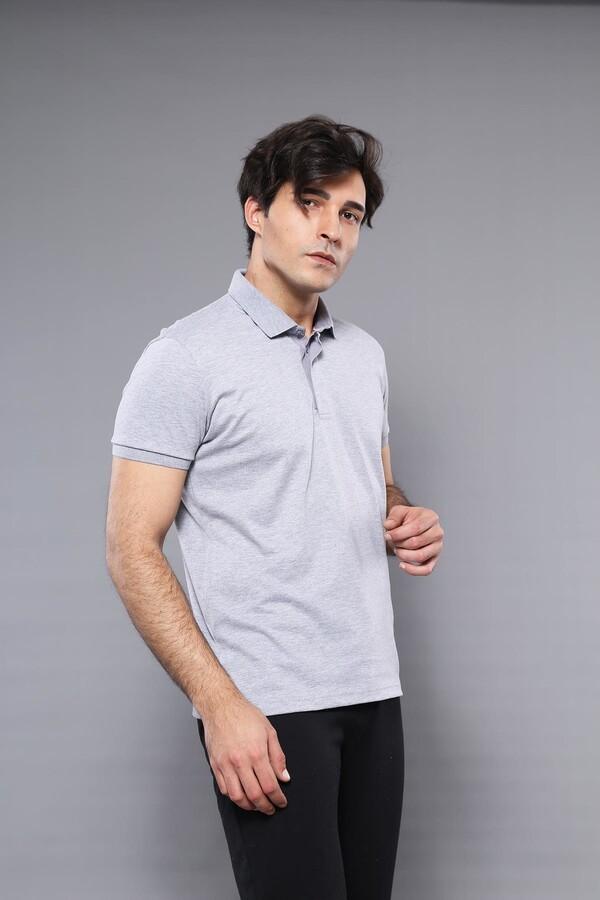 Polo Plain Grey T-Shirt   Wessi
