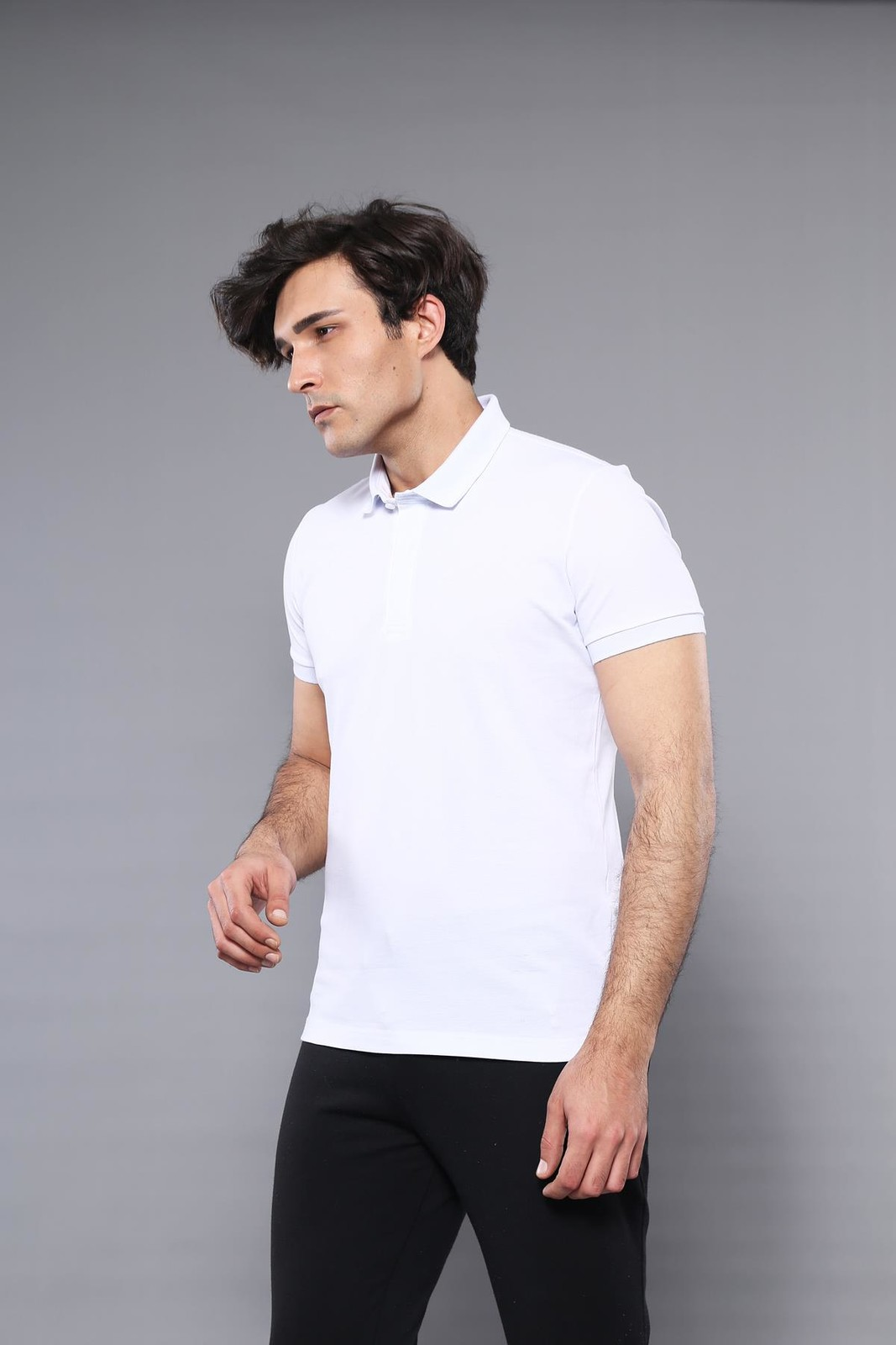 Polo Plain White T-Shirt | Wessi