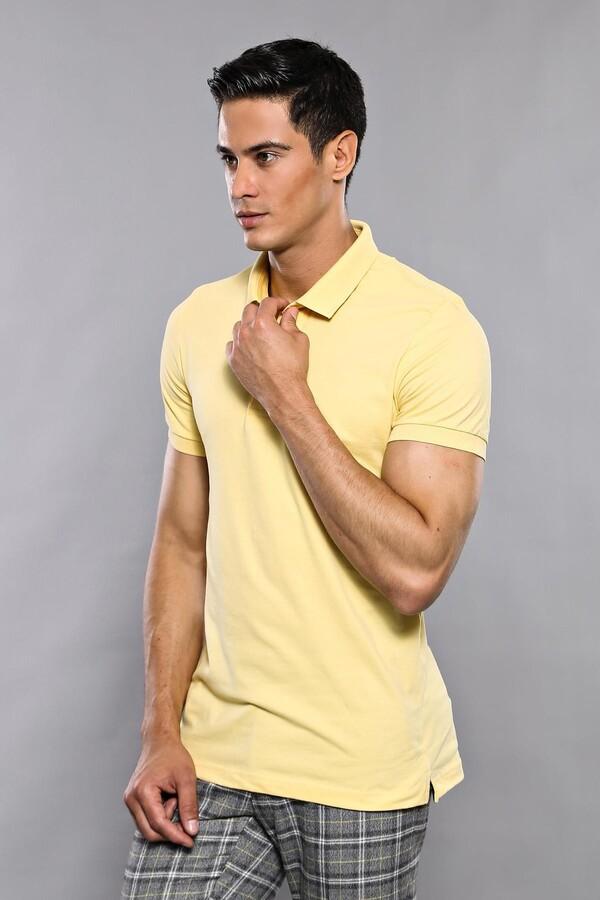 Polo Plain Yellow T-Shirt   Wessi