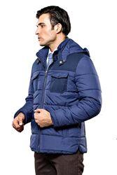 Puffer Navy Blue Coat - Thumbnail