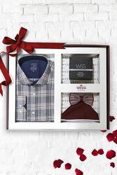 Shirt Perfume Bow-Tie Handkerchief Set - Thumbnail