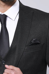 Smoked Plain Blazer Vest Set | Wessi - Thumbnail