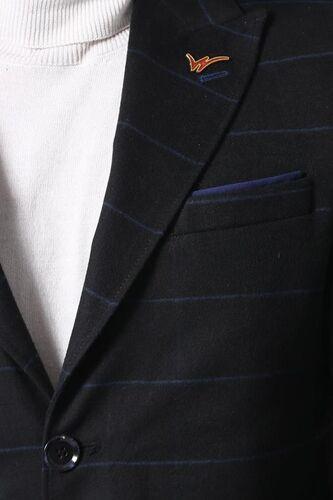 Geniş Sivri Yaka Ekose Siyah Kısa Palto