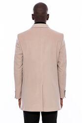 Geniş Yaka Krem Kısa Palto | Wessi - Thumbnail