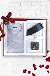 Gömlek Kravat Yaka Çiçeği Hediye Seti | Wessi - Thumbnail