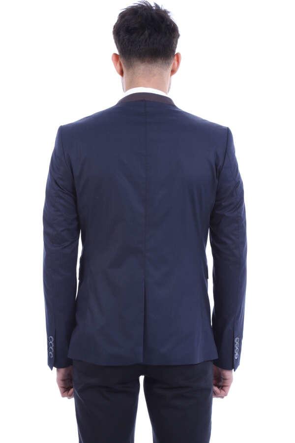 Hakim Yaka Lacivert Ceket