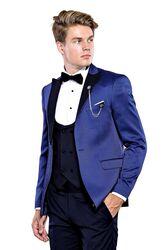 İndigo Ceketli Damatlık Takım Elbise | Wessi - Thumbnail