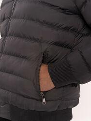 Kürklü Gri Erkek Şişme Mont | Wessi - Thumbnail