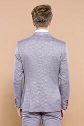 Kare Desenli Bordo Kruvaze Takım Elbise | Wessi - Thumbnail