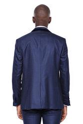 Desenli Yelekli Lacivert Damatlık Takım Elbise | Wessi - Thumbnail