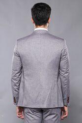 Kendinden Desenli Yelekli Takım Elbise | Wessi - Thumbnail