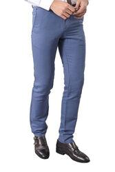 Keten Slimfit Spor Mavi Pantolon - Thumbnail