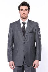 Klasik Kesim Füme Düz Takım Elbise | Wessi - Thumbnail