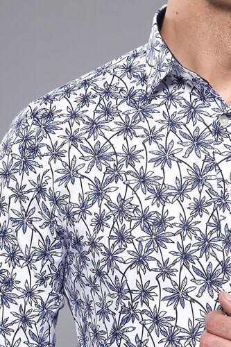 Çiçek Desenli Uzun Kollu Gömlek | Wessi
