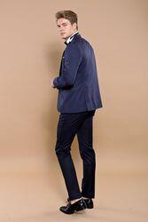 Lacivert Çıkma Yaka Damatlık Takım Elbise | Wessi - Thumbnail