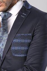Pamuk Slim Fit Lacivert Ceket   Wessi - Thumbnail