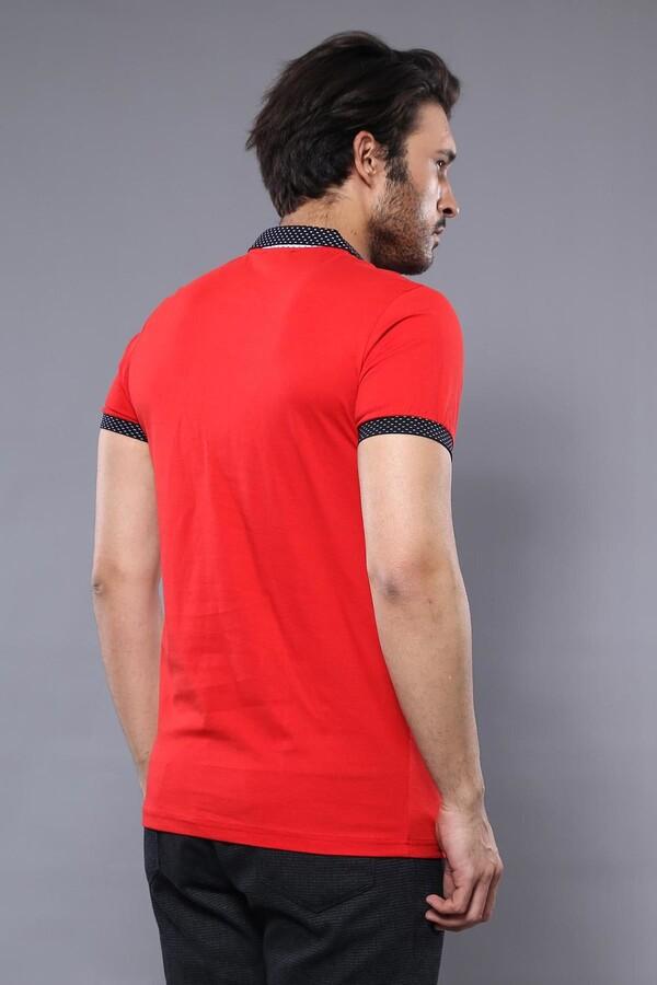 Polo Yaka Kırmızı T-shirt | Wessi