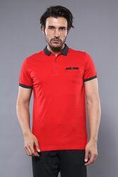 Polo Yaka Kırmızı T-shirt   Wessi - Thumbnail