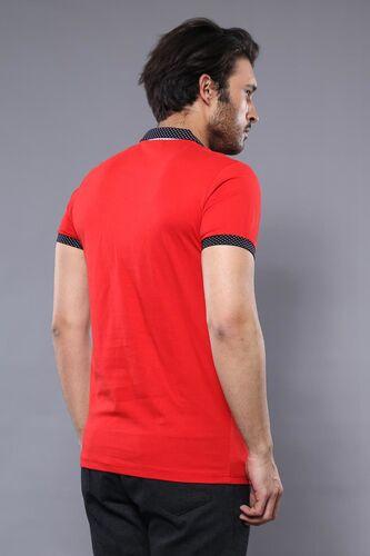 Polo Yaka Kırmızı T-shirt   Wessi