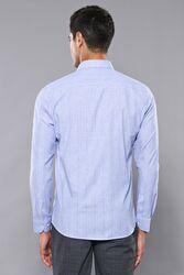 Ekose Desen Mavi Uzun Kollu Gömlek | Wessi - Thumbnail