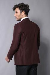 Yaka Biyeli Bordo Damatlık Takım Elbise | Wessi - Thumbnail