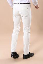 Pamuk Beyaz Renkli 5 Cep Slim Fit Pantolon | Wessi - Thumbnail