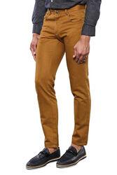 Pamuk Taba Rengi 5 Cep Slim Fit Pantolon | Wessi - Thumbnail