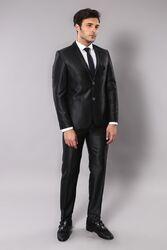 Parlak Cep Apoletli Takım Elbise | Wessi - Thumbnail