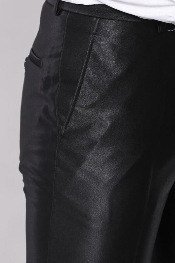 Parlak Cep Apoletli Takım Elbise | Wessi