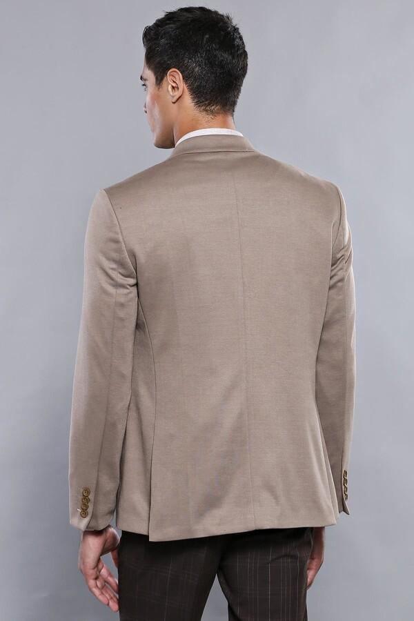 Penye Bej Slim Fit Ceket | Wessi