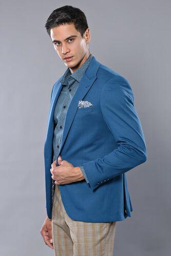 Penye Lacivert Slim Fit Ceket | Wessi