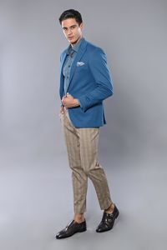 Penye Lacivert Slim Fit Ceket | Wessi - Thumbnail